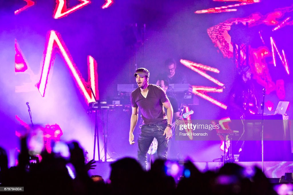 Spanish singer Enrique Iglesias performs live on stage