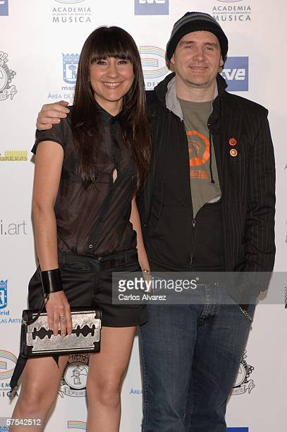 Spanish Singer Eva Amaral and Juan Aguirre attend the Spanish Music Awards at Palacio Municipal de Congresos on May 5 2006 in Madrid Spain
