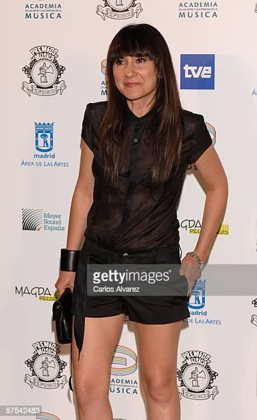 Spanish Singer Eva Amaral attends the Spanish Music Awards at Palacio Municipal de Congresos on May 5 2006 in Madrid Spain