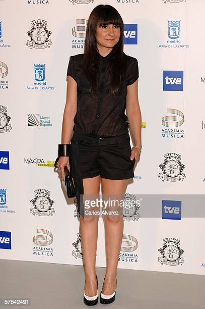 Spanish Singer Eva Amaral attends the Spanish Music Awards at Palacio Municipal de Congresos on May 5 2006 in Madrid Spain