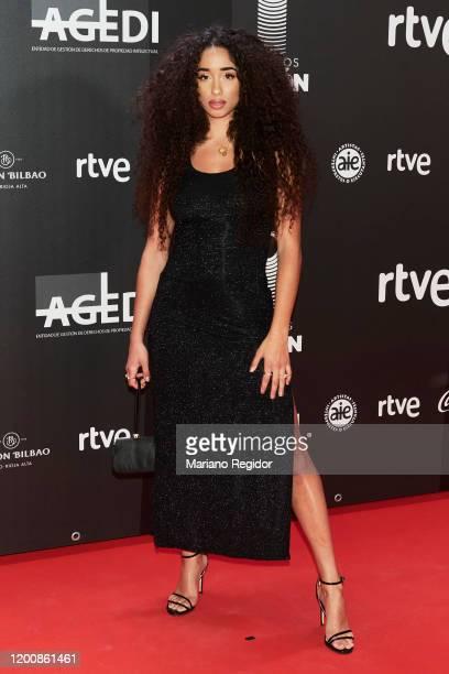 Spanish singer Eva Ruiz attends Odeon Awards 2020 at Royal Theater on January 20 2020 in Madrid Spain