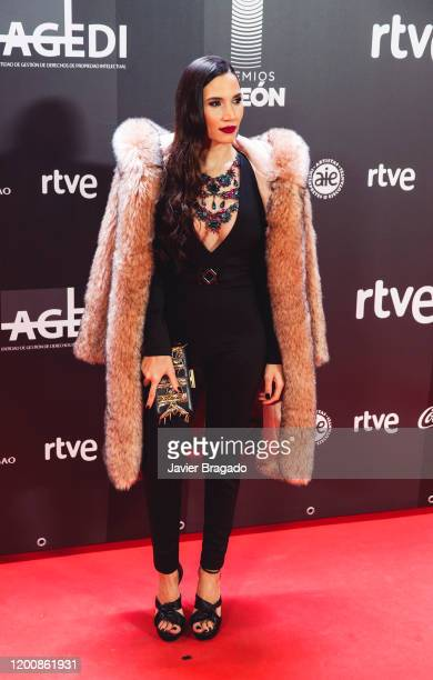 Spanish singer India Martinez attends the 1st Odeon Awards at Teatro Real on January 20 2020 in Madrid Spain
