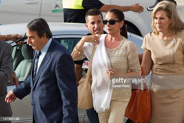 Spanish singer Isabel Pantoja arrives at the Malaga court on the first day of the trial for alleged money-laundering and embezzlement on June 28,...