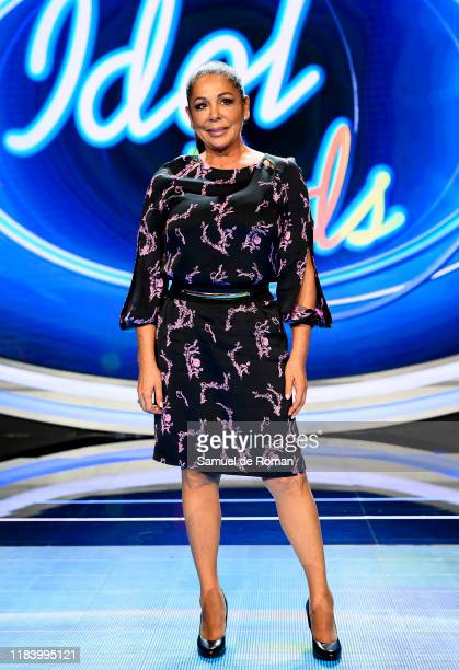 Spanish Singer Isabel Pantoja attends 'Idol Kids' Madrid Photocall on October 28 2019 in Madrid Spain