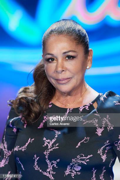 Spanish singer Isabel Pantoja attends 'Idol Kids' Tv show presentation on October 28 2019 in Madrid Spain