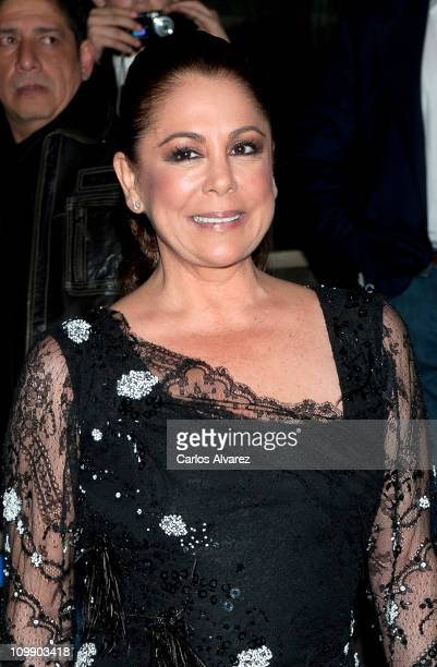 Spanish singer Isabel Pantoja attends 'Torrente 4' premiere at the Capitol cinema on March 9 2011 in Madrid Spain