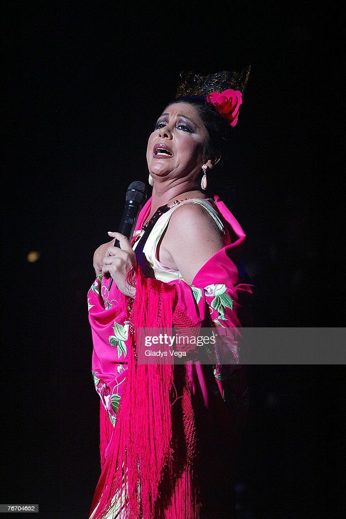 Spanish singer Isabel Pantoja performs live at Coliseo de Puerto