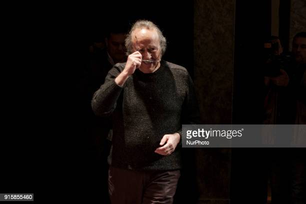 Spanish singer Joan Manuel Serrat performs during the presentation of his upcoming tour 'Mediterraneo da capo' at the Fine Arts Circle in Madrid...
