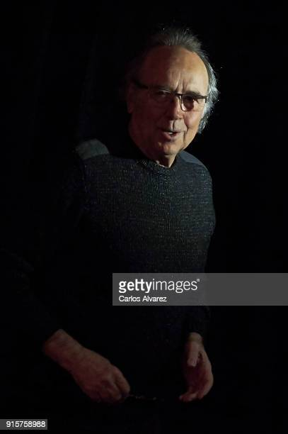 Spanish singer Joan Manuel Serrat presents his new album Mediterraneo Da Capo' at Circulo de Bellas Artes on February 8 2018 in Madrid Spain