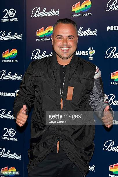 Spanish singer Juan Magan attends the '40 principales' Awards candidates presentation photocall on October 9 2014 in Madrid Spain