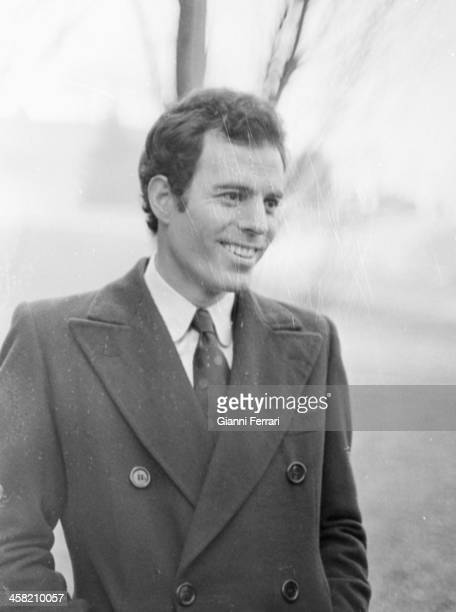 Spanish singer Julio Iglesias during a Spanish TV program Madrid Castilla La Mancha Spain