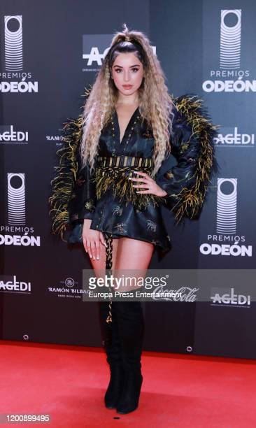Spanish singer Lola Indigo attends Odeon Awards 2020 at Royal Theater on January 20 2020 in Madrid Spain