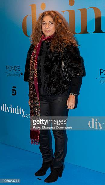 Spanish singer Lolita attends 'Divinity' Party held by Telecinco Tv Channel at Ramses on November 16 2010 in Madrid Spain