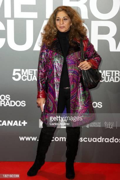 Spanish singer Lolita Flores attends 'Cinco Metros Cuadrados' premiere at Callao cinema on November 10 2011 in Madrid Spain