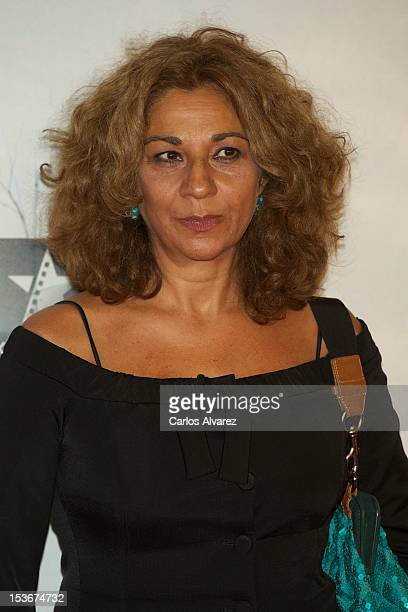 Spanish singer Lolita Flores attends the 'The Impossible' premiere at Kinepolis cinema on October 8 2012 in Madrid Spain
