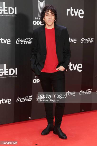 Spanish singer Lucas Colman attends Odeon Awards 2020 at Royal Theater on January 20 2020 in Madrid Spain