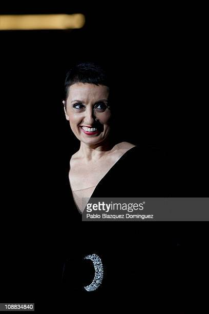 Spanish singer Luz Casal performs in Concert at Madrid Arena on February 4 2011 in Madrid Spain