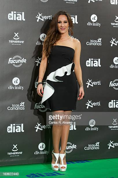 Spanish singer Malu attends Cadena Dial awards 2013 at the Adan Martin auditorium on March 13 2013 in Tenerife Spain