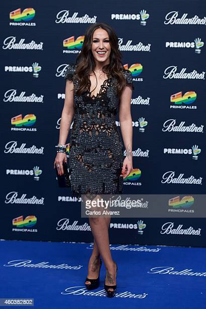 Spanish singer Malu attends the 40 Principales Awards 2014 photocall at the Barclaycard Center on December 12 2014 in Madrid Spain