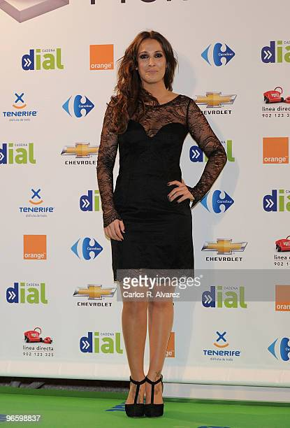 Spanish singer Malu attends the ''Cadena Dial'' 2010 awards at the Tenerife Auditorium on February 11 2010 in Tenerife Spain