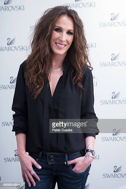 Spanish singer Malu attends the Swarovski Flagship store opening at Serrano street on November 5 2015 in Madrid Spain