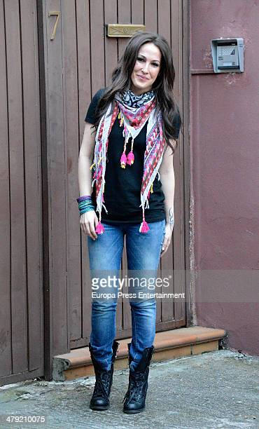 Spanish singer Malu poses in her 32th birthday on March 15 2014 in Madrid Spain