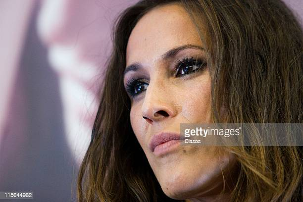 Spanish singer Malu presents her new album Guerra Fria on June 8 2011 in Mexico City Mexico