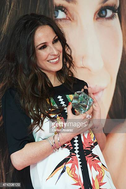 Spanish singer Malu presents her new fragance 'Malu Live' on May 21 2015 in Madrid Spain