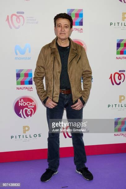 Spanish singer Manolo Garcia attends 'La Noche De Cadena 100' charity concert at WiZink Center on March 24 2018 in Madrid Spain
