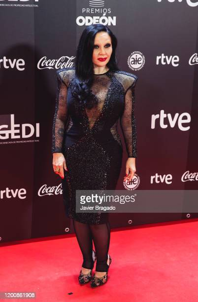 Spanish singer María Olvido Gara aka Alaska attends the 1st Odeon Awards at Teatro Real on January 20 2020 in Madrid Spain