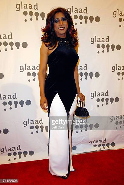 Spanish singer Mari Trini poses at the 18th Annual GLAAD Media Awards on May 10 2007 in Miami Florida