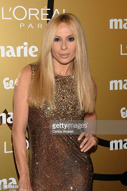 Spanish singer Marta Sanchez attends the 5th Marie Claire Magazine Awards at the French Embassy November 22 2007 in Madrid Spain
