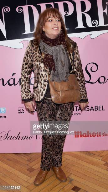 Spanish singer Massiel attends 'La Gran Depresion' premiere at Infanta Isabel Theatre on May 19 2011 in Madrid Spain