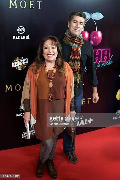 Spanish singer Massiel attends the Pacha El Arquitecto De La Noche documentary premiere at the Capitol cinema on May 25 2015 in Madrid Spain