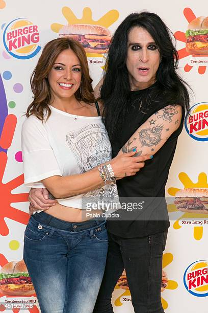 Spanish singer Merche attends Mario Vaquerizo's Birthday at a Burger King restaurant on July 9 2014 in Madrid Spain