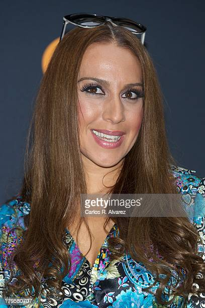 Spanish singer Monica Naranjo attends the Tu Cara Me Suena new season presentation during the day four of 5th FesTVal Television Festival 2013 at the...