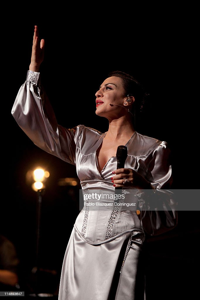 Spanish singer Monica Naranjo performs live in concert at Theatre