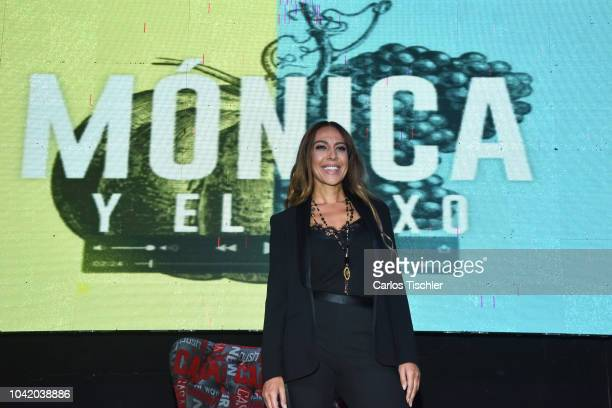 Spanish singer Monica Naranjo poses for photos during a press conference to present the reality show 'Monica y el sexo' on September 21 2018 in...