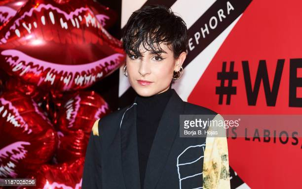 Spanish singer Natalia Lacunza attends photocall of '#WeSingle' by Sephora on November 11 2019 in Madrid Spain