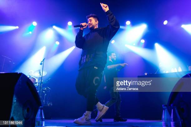 Spanish singer Nikone performs on stage at Carrete Festival at La Riviera on April 10, 2021 in Madrid, Spain.