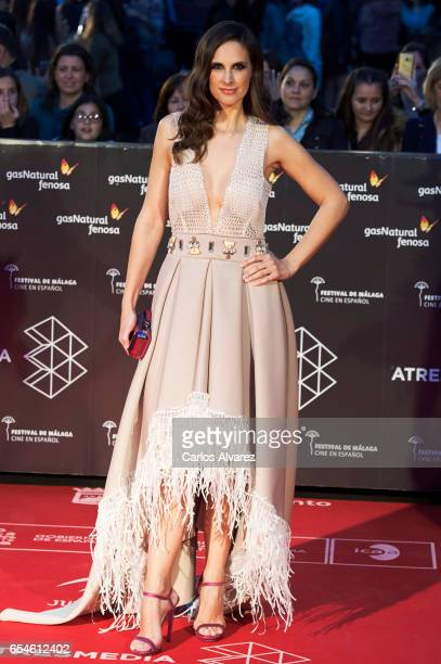 Spanish singer Nuria Fergo attends the 20th Malaga Film Festival 2017 opening ceremony at the Cervantes Theater on March 17 2017 in Malaga Spain