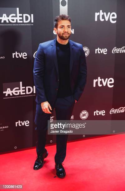 Spanish singer Pablo Alboran attends the 1st Odeon Awards at Teatro Real on January 20 2020 in Madrid Spain