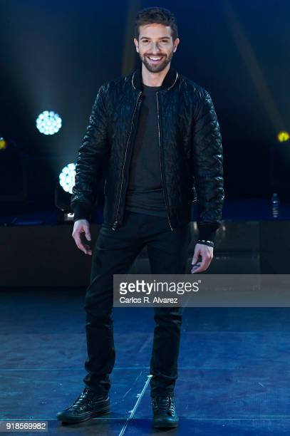 Spanish singer Pablo Alboran presents her new tour 'Prometo' on February 15 2018 in Arganda del Rey Spain