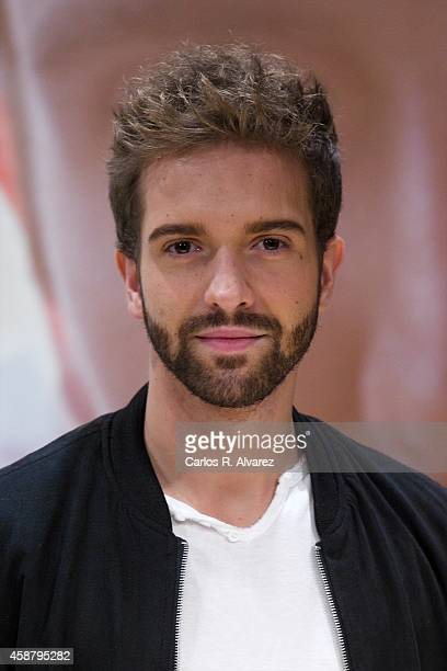 Spanish singer Pablo Alboran presents his new album Terral at the Royal Theater on November 11 2014 in Madrid Spain
