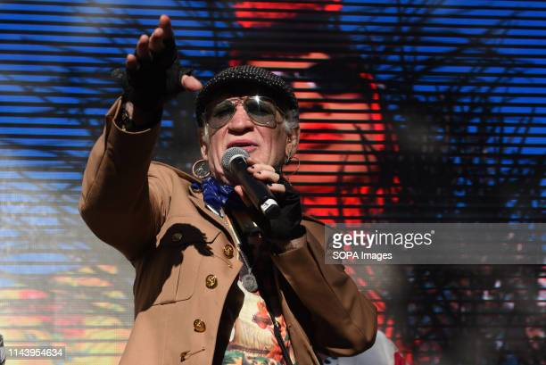 Spanish singer Paco Clavel is seen performing during the 'Reinventando Chulap's fashion contest in Madrid Reinventando Chulaps is celebrated during...