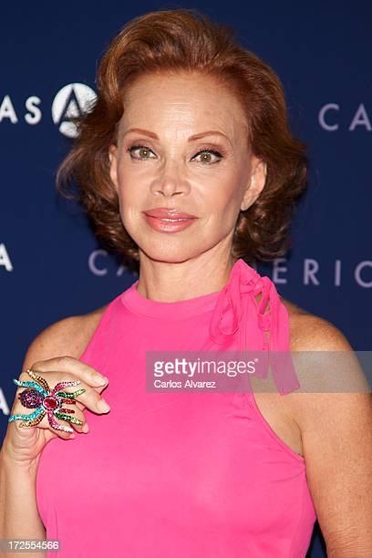 Spanish singer Paloma San Basilio receives the MuestraT 2013 award at the Casa America on July 3 2013 in Madrid Spain