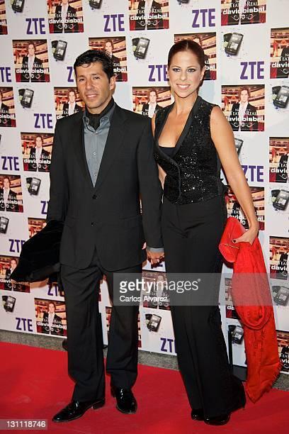 Spanish singer Pastora Soler and husband Francis Vinolo attends David Bisbal concert at the Royal Theater on November 1 2011 in Madrid Spain