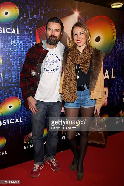Spanish singer Pau Dones attends '40 El Musical' premiere at the Rialto Theater on January 31 2013 in Madrid Spain