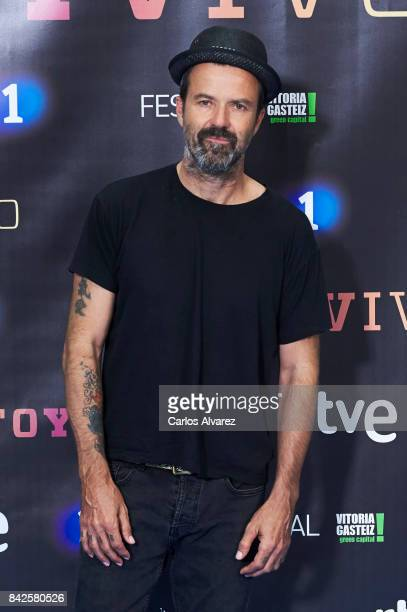 Spanish singer Pau Dones attends 'Estoy Vivo' photocall during the FesTVal 2017 at the Palacio de Congresos on September 4 2017 in VitoriaGasteiz...