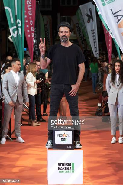 Spanish singer Pau Dones attends 'Estoy Vivo' premiere during the FesTVal 2017 at the Principal Teather on September 4 2017 in VitoriaGasteiz Spain